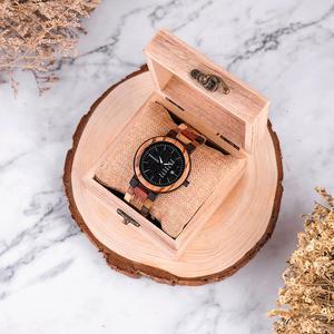 Image 5 - BOBO VOGEL Paar uhr Luxus Marke Holz Uhren Woche Datum Anzeige Quarz Uhren für Männer Frauen Großes Geschenk Dropshipping OEM