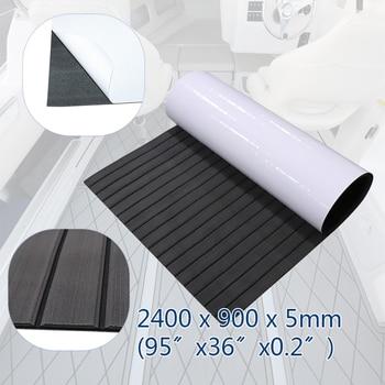 EVA Foam Faux Teak Decking Sheet 240x90cm Yacht Marine Carpet Flooring Mat Non Self Adhesive Teak Sheet Boat Accessories