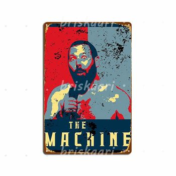 The Machine Political Poster- Bert Kreischer Metal Signs Cinema Garage Poster Cinema Personalized Metal Posters image