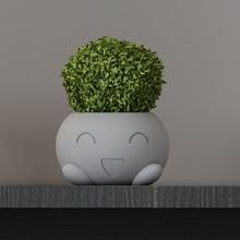 Cement flowerpot silicone mold succulent green plants pot concrete craft garden supplies