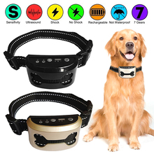 Pet-Trainer Barking-Control Ultrasonic-Training-Collars Dog Bark Dog-Stop Vollar Rechargeable