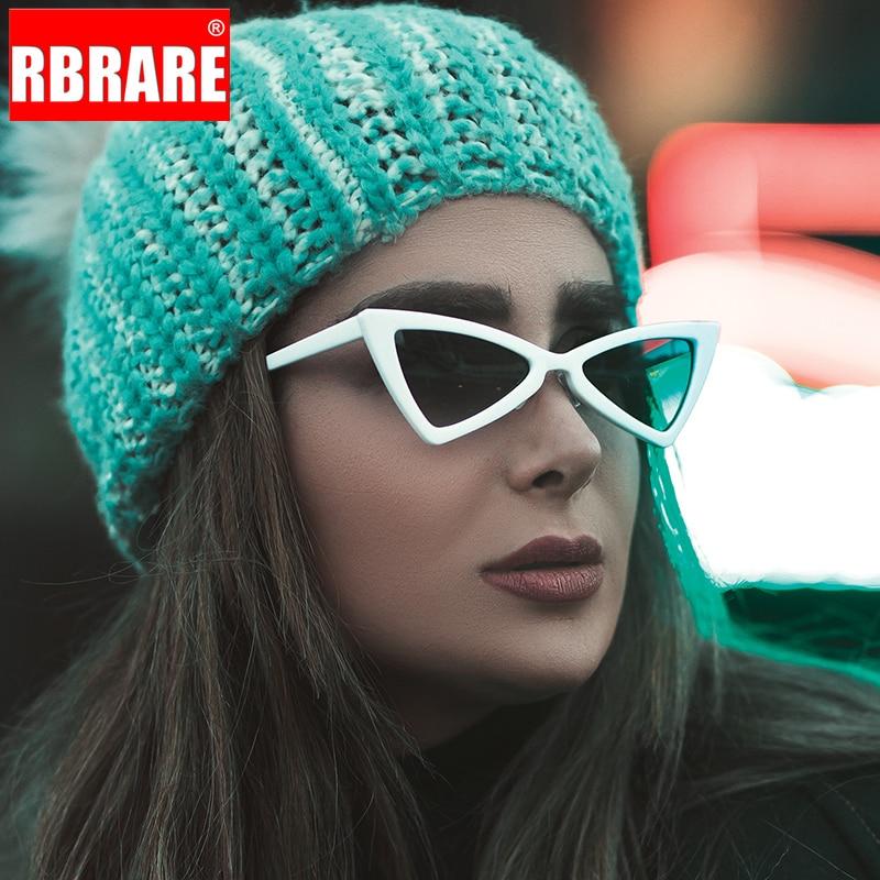 RBRARE 2019 Fashion Butterfly Sunglasses Women Brand Designer Small Frame Triangle Plastic Reflective Mirror Glasses