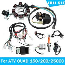 Elektrik kablo demeti tel tezgah Stator tam kiti ATV QUAD için 150/200/250CC plaj ATV kablo demeti araba aksesuarları