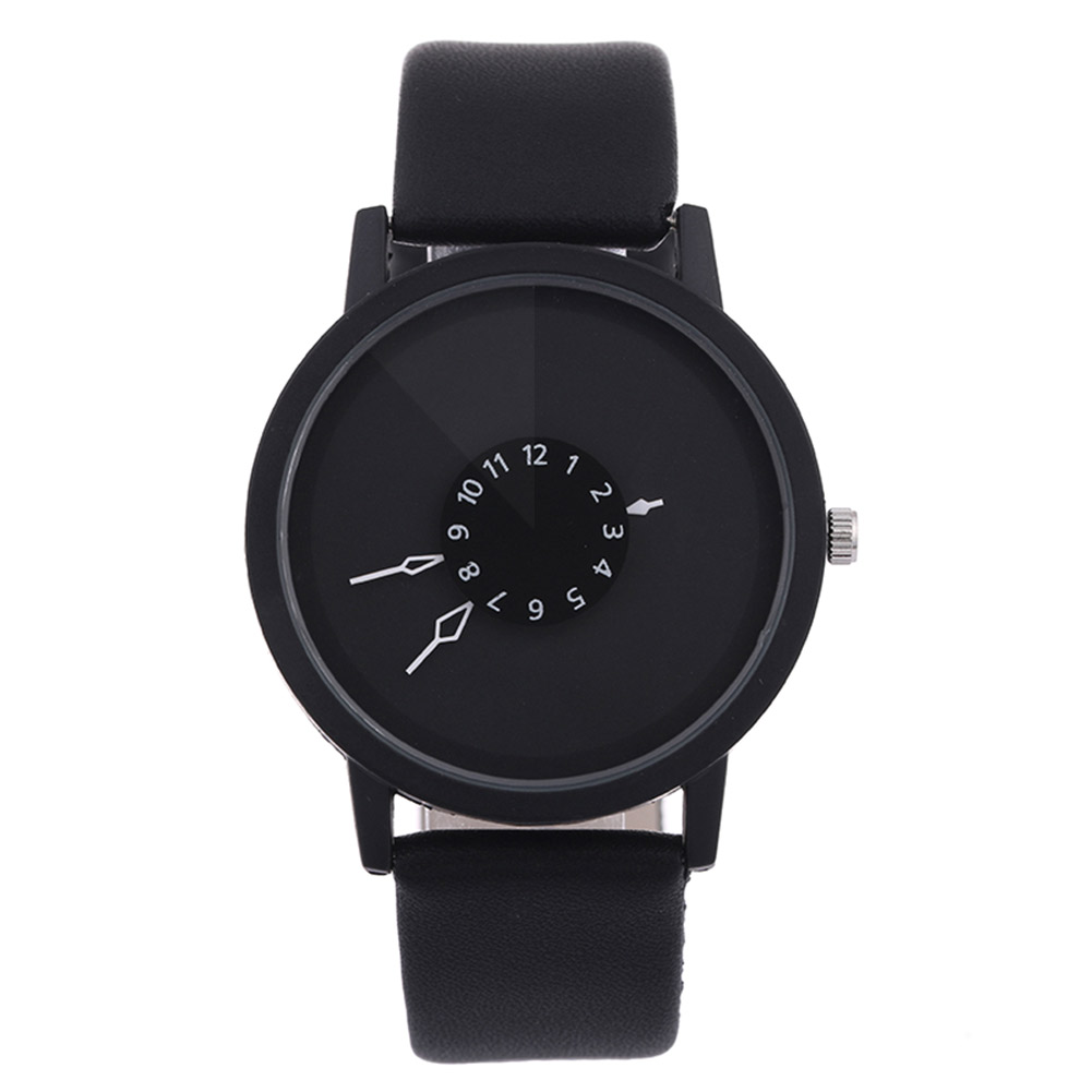 Simple Fashion Korean Lovers Couple Quartz Watch Leather Clock Men And Women Wristwatches Personality Student Watches Ho