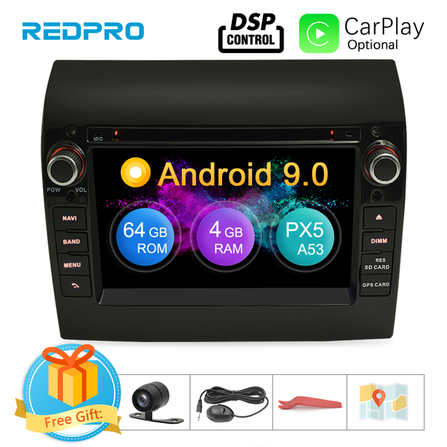 """8 Core 7"""" IPS Android 9.0 Car Stereo For Fiat Ducato CITROEN Jumper PEUGEOT Boxer DVD Player GPS Navigation Wifi FM Multimedia"""