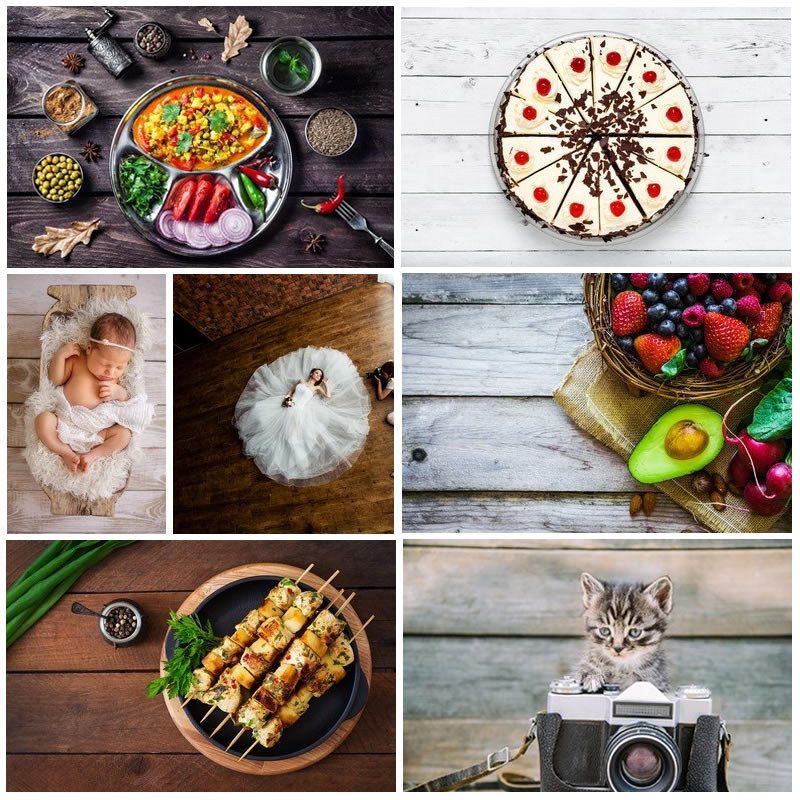 Photophone Wood Photo Background Cake Photography Backdrop Baby Shower Newborn Wedding Photographic Photocall Room Wallpapers