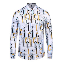 2019 New Arrival Luxury Brand Fashion Men Shirt Long Sleeve