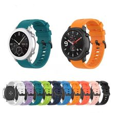 22mm 20mm Soft Silicon strap for Amazfit GTR 47mm Amazfit GTS 42mm Replace breathable strap for Samsung watch 3 Huawei GT2 band