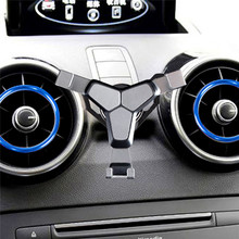 الهاتف المحمول الجاذبية حامل حامل كليب لأودي A1 A3 سيارة الهواء تنفيس منفذ الهاتف جبل قوس آيفون أندرويد الهاتف الذكي