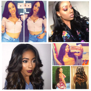 Image 5 - Liddy Human Hair Wigs 4x4 Lace Closure Wig For Black Women Body Wave Wigs Non remy Natural Color 150% Density Wigs