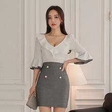 Sexy Club Wear Ladies Package HIp Wrap Dress Fall Clothes for Women Autumn Dress 2019 Deep V-neck Patchwork Mini Dress Plus Size