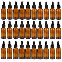 30 Uds ámbar azul gota botella de cristal color ámbar líquido para aromaterapia cuentagotas básicos esenciales Aceite de Masaje de pipeta botellas recargables