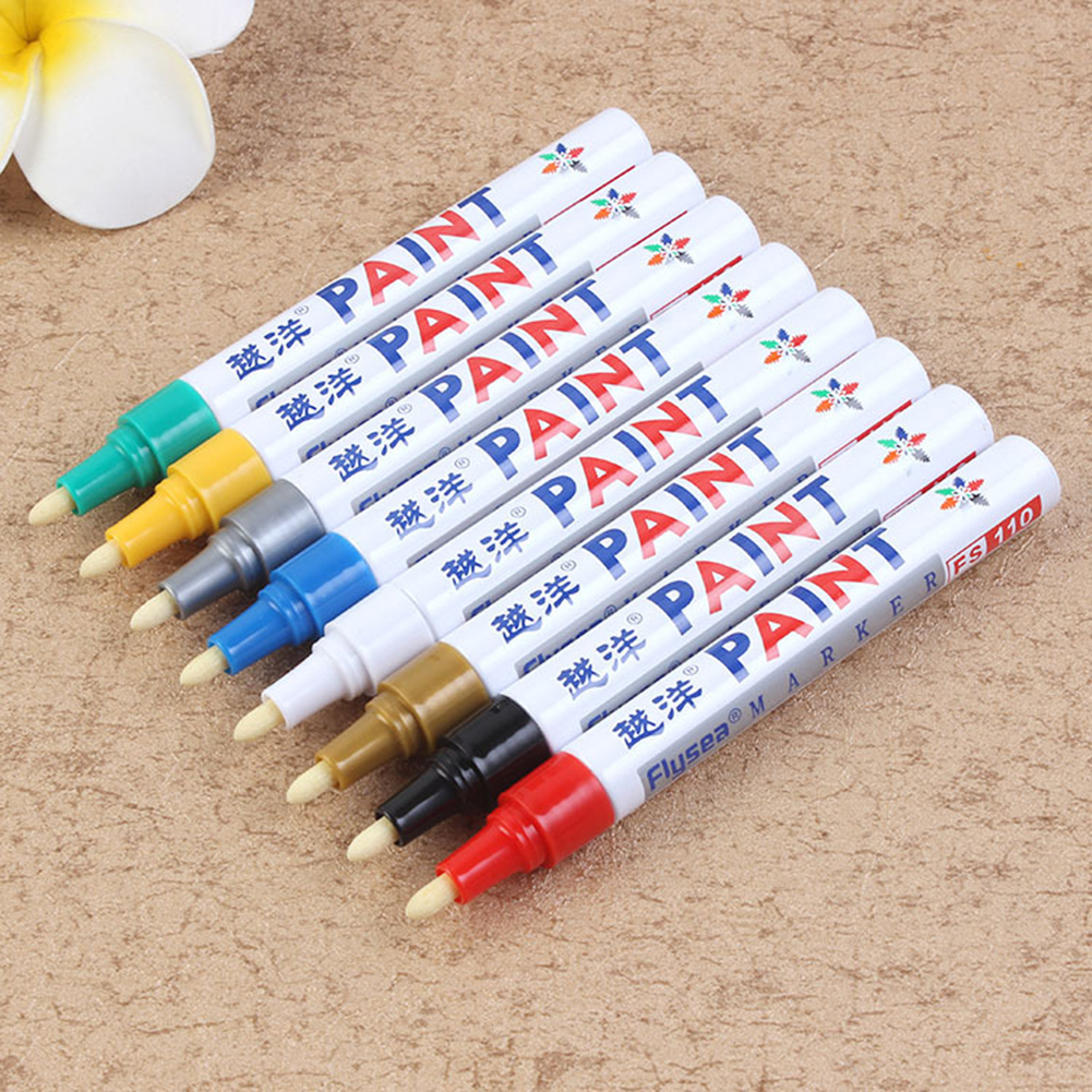 12 Colors Waterproof Car Tyre Tire Tread CD Metal Permanent Paint Marker Oily Marker Pens Car Accessories