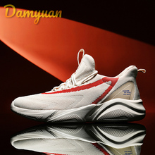 Damyuan 2019 NEW Casual Shoes Men Breathable off white Sneakers man Lace Up Color Matching Zapatilla Calzado Hombre Big size 48 mycolen 2018 new arrival fashion leisure white shoes men sneaker shoes lace up cross strap shoe breathable calzado hombre