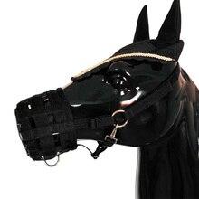 Лошадь Холтер намордник легко дышать конский рот крышка Пони Нейлон пастбище намордник с Холтер под подбородком головы воротник регулируемый