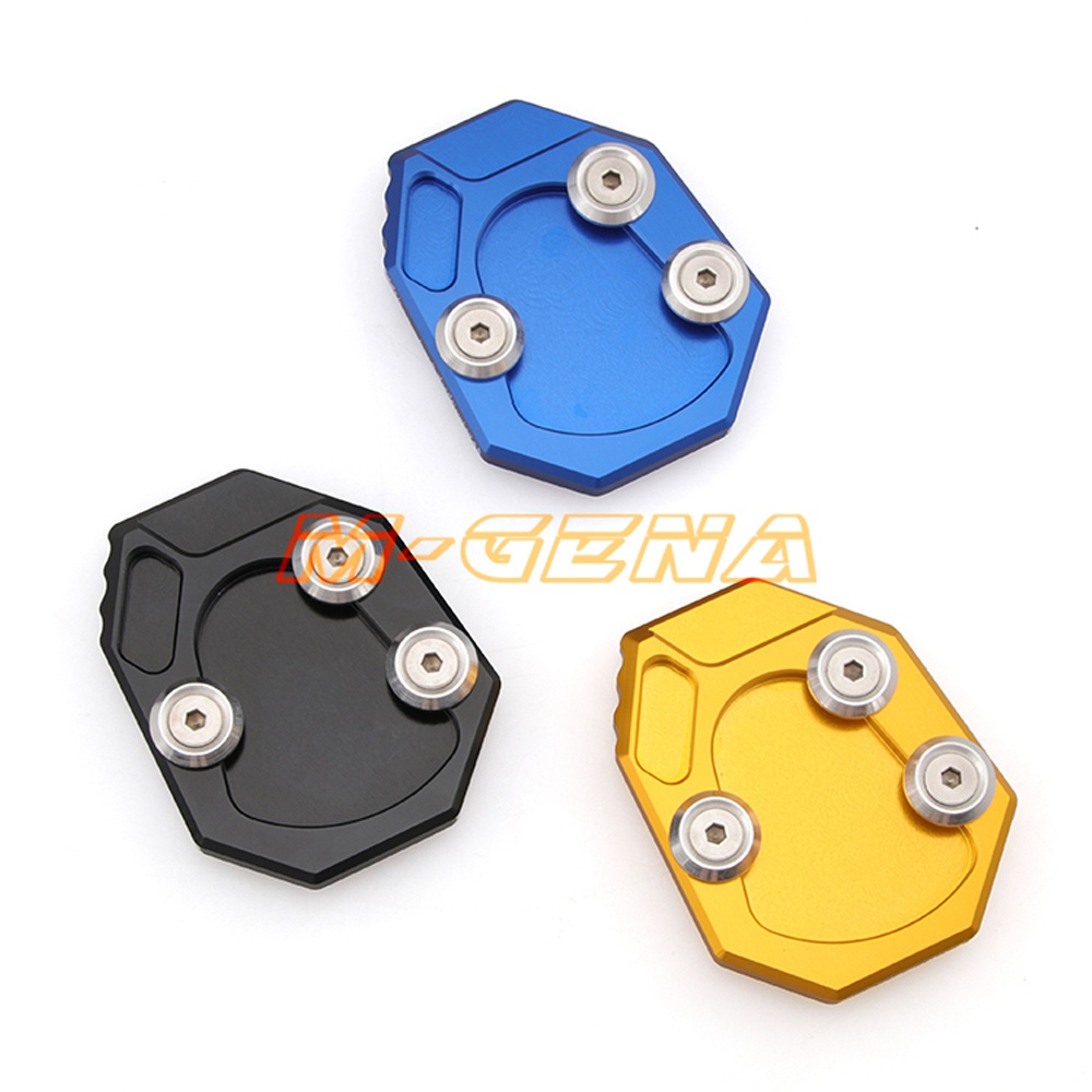Motorcycl CNC Side Stand Kickstand Kick Stank Extension Foot Plate Pad For <font><b>YAMAHA</b></font> YZF <font><b>R1</b></font> <font><b>2009</b></font> 2010 2011 2012 2013 2014 2015 2016 image