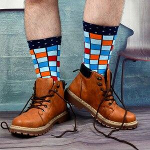 Image 4 - SANZETTI 8 paare/los Kühlen männer Bunte Lustige Gekämmte Baumwolle Neuheit Socken Casual Crew Socken Helle Party Kleid Socken Für geschenke