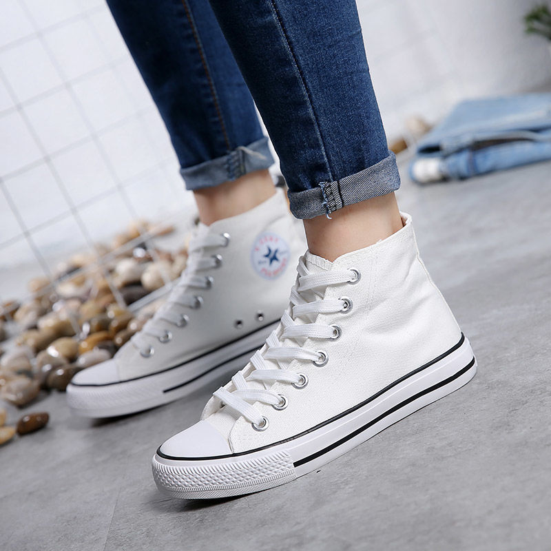 Best Selling Shoes Women Canvas Shoes Women's Fashion Casual Breathable Shoes 13 Color Men High-top Sneakers Men OEING