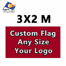 Custom 3m x 2m Flags For Advertising Customize Flag Free HD Design Digital Printing 100D Polyester All Styles and Your logo