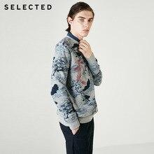 Wybrane 100% bawełna drukuj haft okrągły dekolt bluza odzież męska sweter zimowy bluzy C