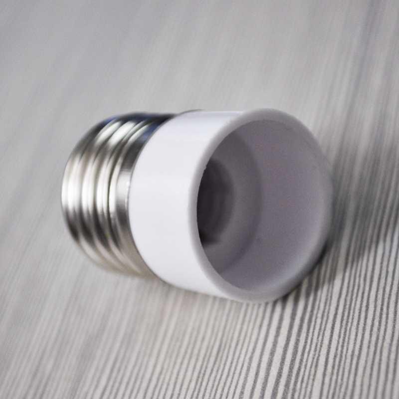 E27 a E14 Base de lámpara de luz LED adaptador para bombilla convertidor #8