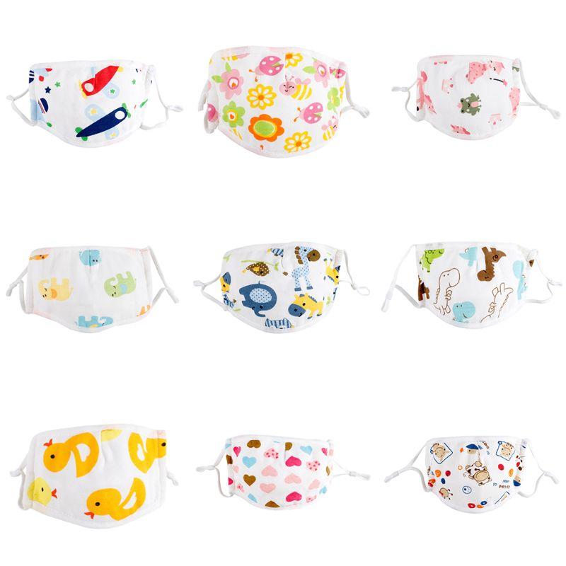 3Pcs Kids 5 Layers Cotton Mask Anti-Pollution Adjustable Anti-Haze Mouth-Muffle Ramdom Colors