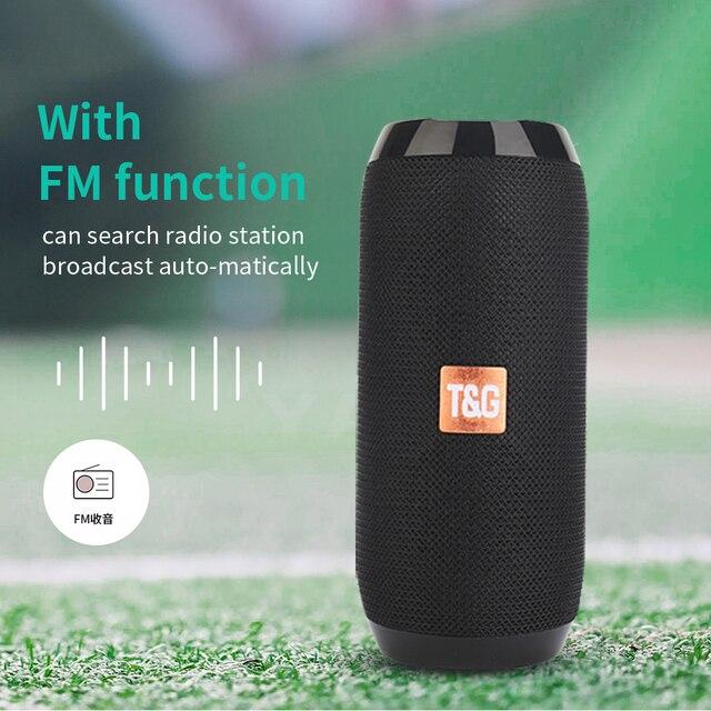YABA Portable Bluetooth-compatible Speaker boombox Soundbar Subwoofer Outdoor Sports caixa de som Loudspeaker TF Card FM Radio 5