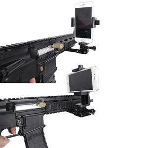 Image 5 - CNC Aluminum Gun Side Rail Smartphone Adapter Holder Mount for Gopro Hero 8 7 6 5 SJCAM Yi 4K SONY Action Camera Accessories Set