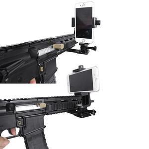 Image 5 - Cnc Aluminium Gun Side Rail Smartphone Adapter Houder Voor Gopro Hero 8 7 6 5 Sjcam Yi 4K sony Actie Camera Accessoires Set
