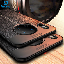 Hacrin Case For Huawei Mate 30 Pro Leather Style Soft Silicone Phone Cover Full Protective Bumper