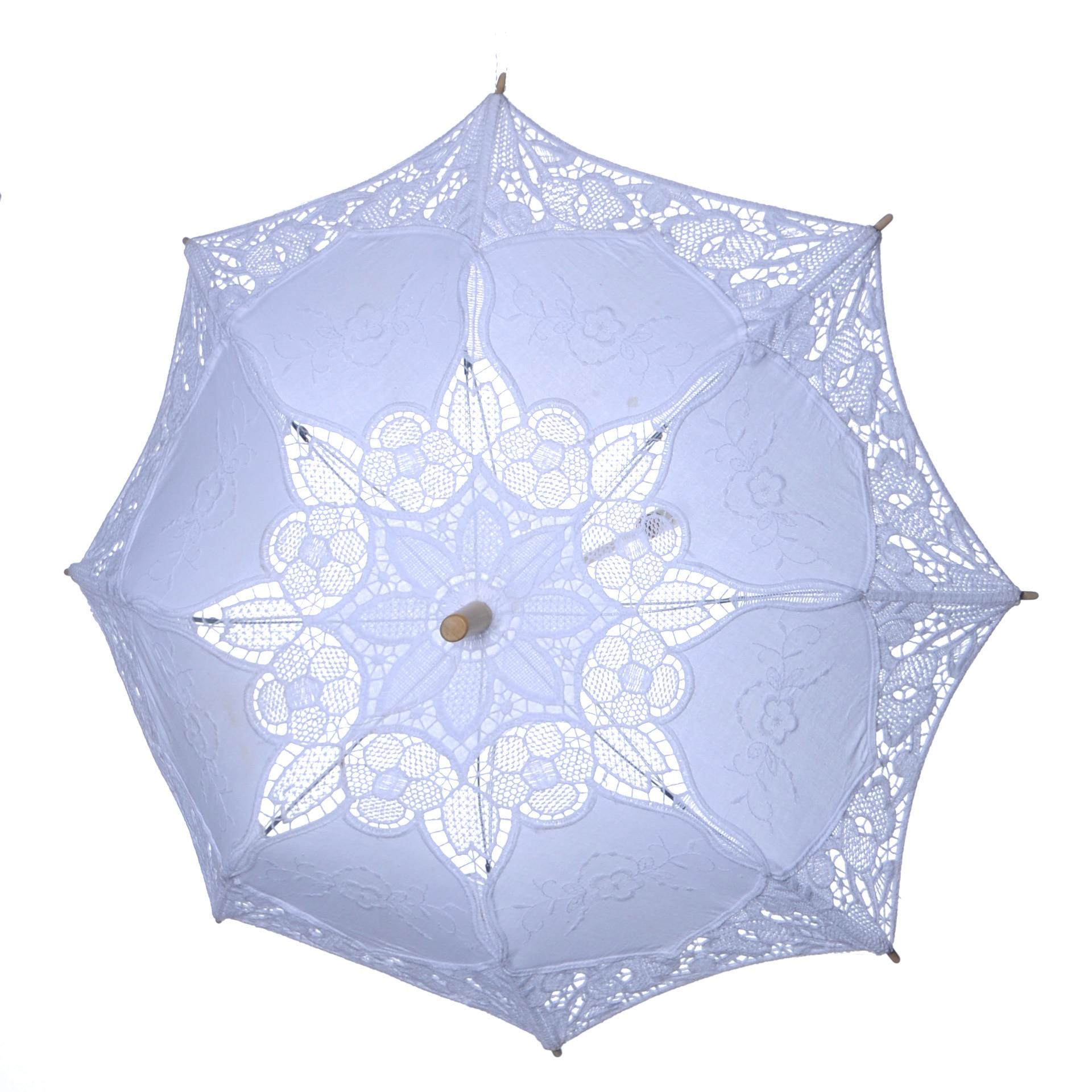 Lace Sunshade Handmade Wedding Umbrellas Retro Lace Umbrella Parasol For Sun For Wedding Photography Wedding Decor BU99036