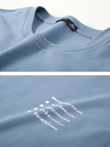 Image 5 - פיוניר 2020 אביב חולצה גברים ארוך שרוול מוצק 100% כותנה מכתב מודפס O צוואר אופנה סיבתי חולצות Mens ACT0102011