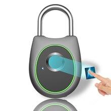 ポータブルスマート指紋ロック電気生体認証ドアロック usb 充電式 IP65 防水ホームドア荷物ケースロック