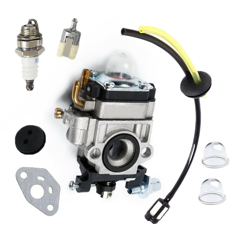 Carburetor For Kawasaki TH23 TH26 TH34 23CC 25CC 26CC 33CC 35CC Spark Plug Kit
