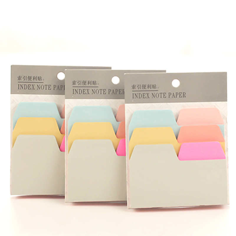 Candy Color Self-Adhesive Memo Pad  Index Notepad Notebook Notepad Bookmark School Office Supply Stationery Escolar Papelaria