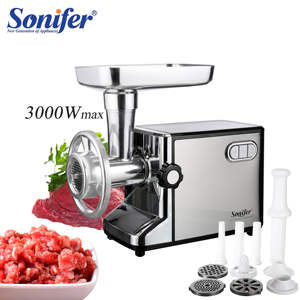 Sonifer Meat Mincer Electric-Meat-Grinders Stainless-Steel Heavy-Duty 3000W Household