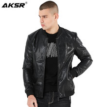 AKSR New Arrive Men Autumn Motorcycle PU Leather Jacket Slim Men's Leather Jackets Jaqueta De Couro Masculina Mens Leather Coats мужские изделия из кожи и замши genuine leather jacket pp jaqueta masculina