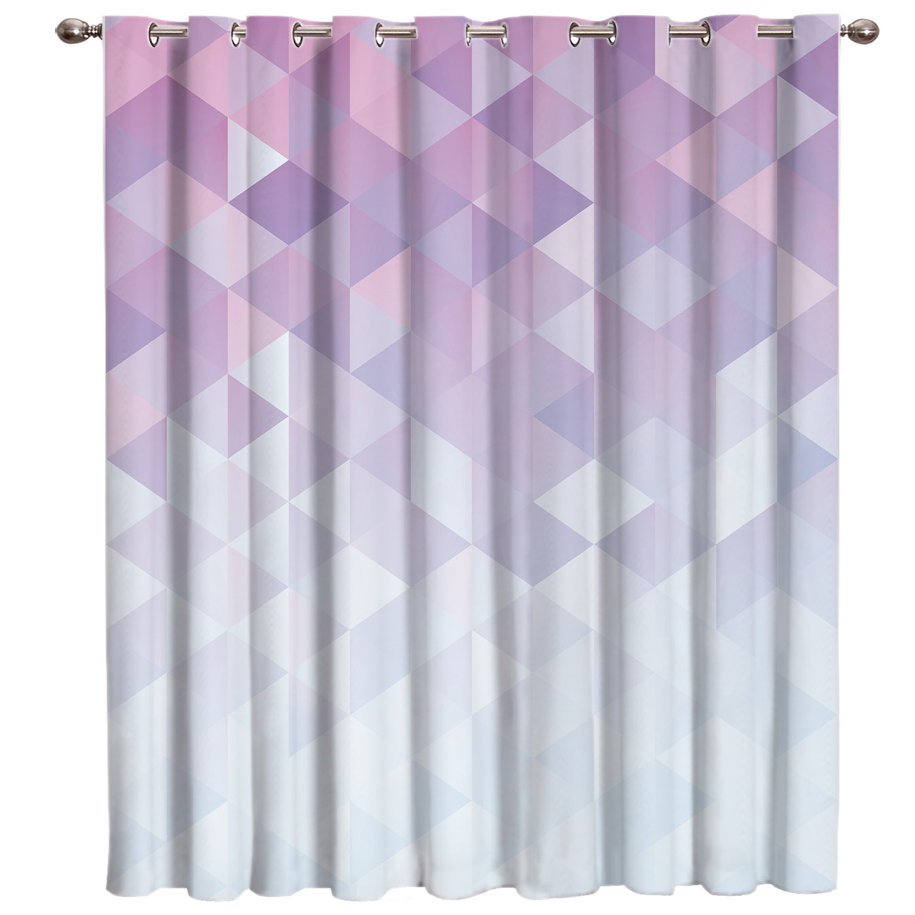 Geometric Gradient With Mosaic Triangle Pattern Window Curtains Dark Curtains Kitchen Drapes Indoor Window Treatment