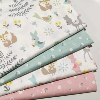 Kids Printed Cotton twill fabric for DIY bedding cloth Sewing patchwork quilting and fashion dress making fabrics 100x160cm pure cotton fabric cloth for baby bed sheet patchwork quilting twill bedding cartoon fabrics diy dolls sewing textile