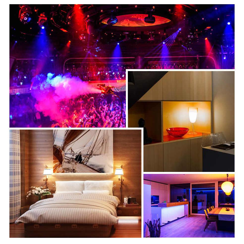 L'ampoule de Led allume 5W 10W 15W AC 110V 220V rvb RGBW E27 avec 24 clés IR Romote contrôle 16 couleurs changeables ampoule de Led de décoration pour la maison