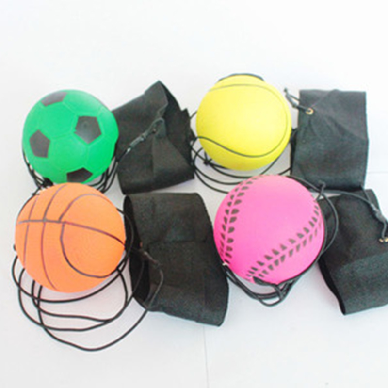 UK Random Return Sponge Rubber Ball Elastic On String Child Activity Toy Gift