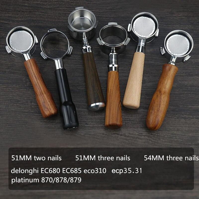 Portafilter 51mm Delonghi Ec685 Ec680 Ecp35.31 54mm Bottomless Portafilter Breville For 870/878/879エスプレッソ54 بورتافلتر ديلونجي
