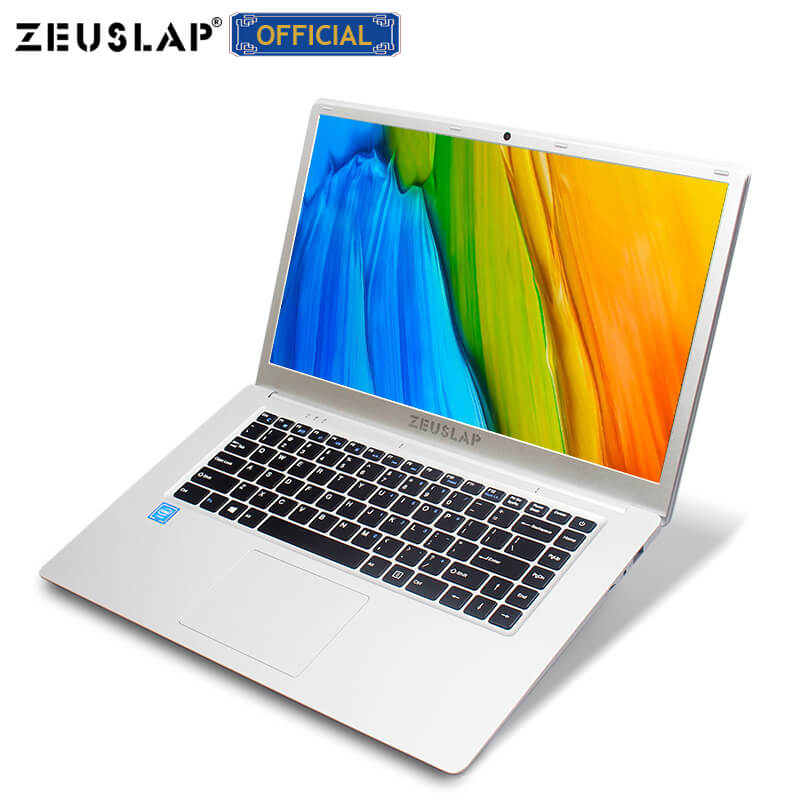 ZEUSLAP 15.6inch Intel Quad Core 4GB RAM+64GB EMMC Windows10 Dual Band Wifi 1920*1080P FHD IPS Netbook Laptop Notebook Computer
