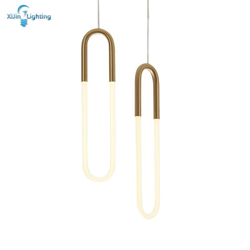 Designer U Shape Pendant Lamp Hardware Glass Material LED Lamp Indoor Lighting Fixture Modern LED Dining Lamp