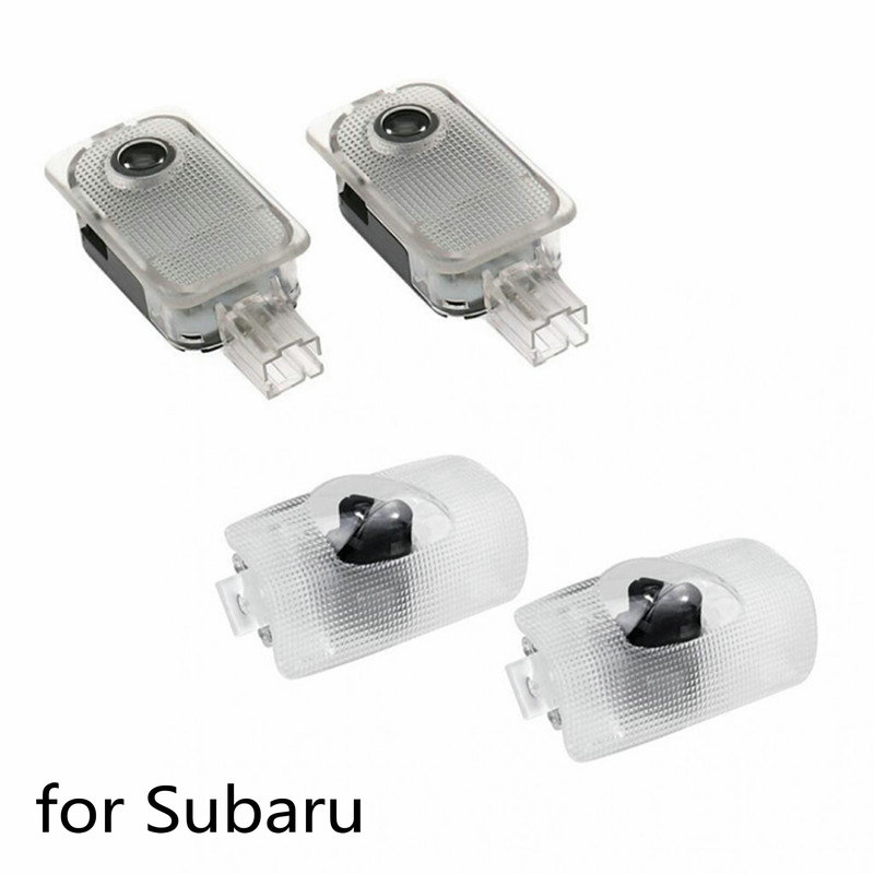2X Car Led Door Logo Laser Light Projector Ghost Shadow Welcome Light For SUBARU Forester Outback Legacy Impreza XV Tribeca BRZ
