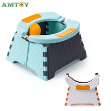 AMTOY Emergency Portable Potty Training Seat for Toddler Kids Travel Potty Foldable Toilet Baby Potty Seat Indoor and Outdoor