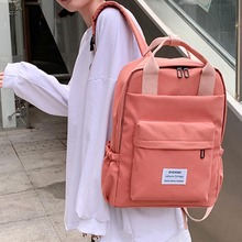 Women Black Backpack Fashion Letters Print School Bags Large Capacity Teenager Girls Laptop Travel Backpack Mochila Sac A Dos