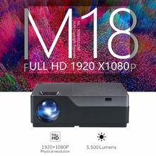 M18 LED Projector M18UP 5500 Lumens 1920x1080P Android 6.0 wifi Video Beamer LED