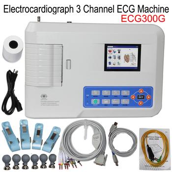 3 kanały EKG EKG ECG300G CONTEC elektrokardiograf cyfrowe urządzenie do EKG Monitor zdrowia serca z oprogramowaniem i wbudowaną drukarką tanie i dobre opinie HealthMedE Z Chin Kontynentalnych 3 channels Elektroniczne urządzenie do pomiaru tętna Palm