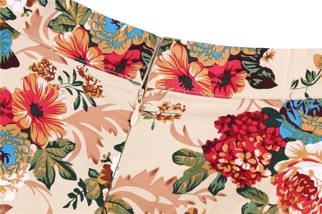 2020 Elegant Women Pleated Office Midi Skirts Aline Steampunk Gothic Female 50s 60s A line Ladies Skirt High Waist fashion skirt 6
